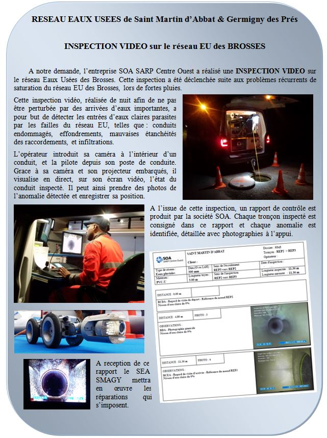 Article inspection video reseau eu